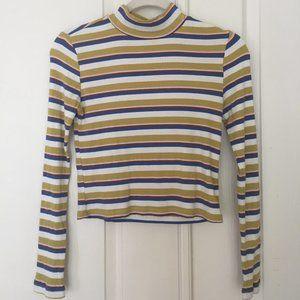 Thin, Multicolor Striped, Turtleneck